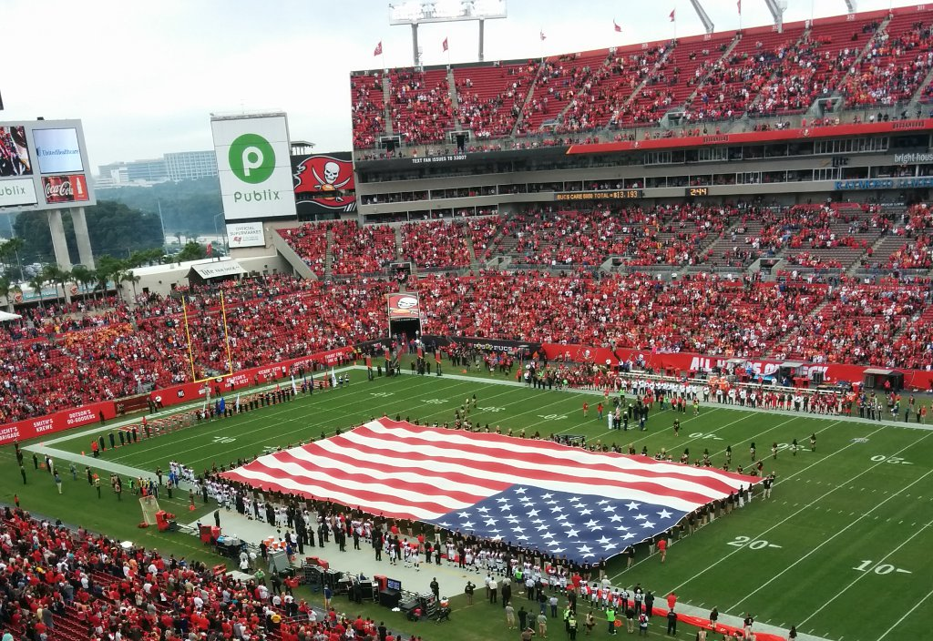 Falcons - Buccaneers National Anthem