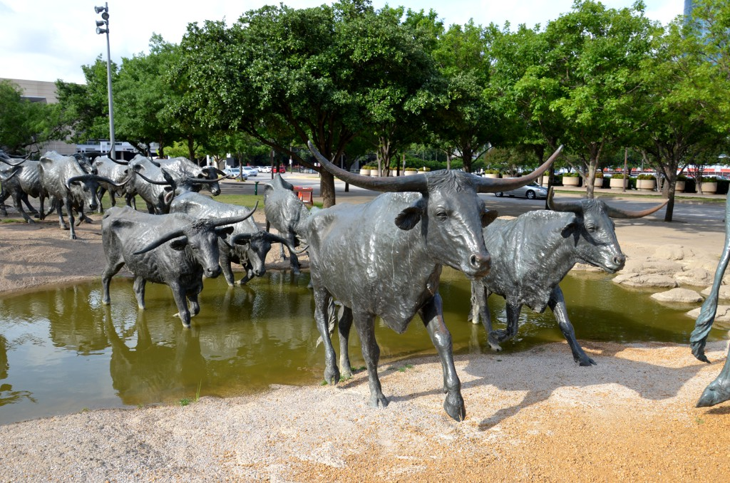 Pioneer Plaza - Cattle Drive