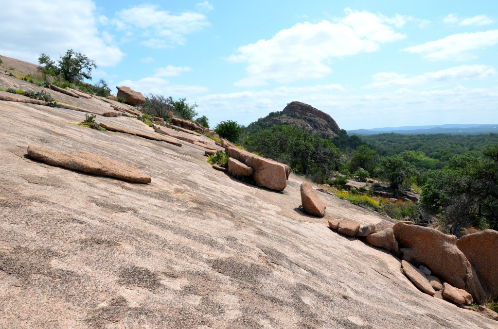Hiking up Enchanted Rock