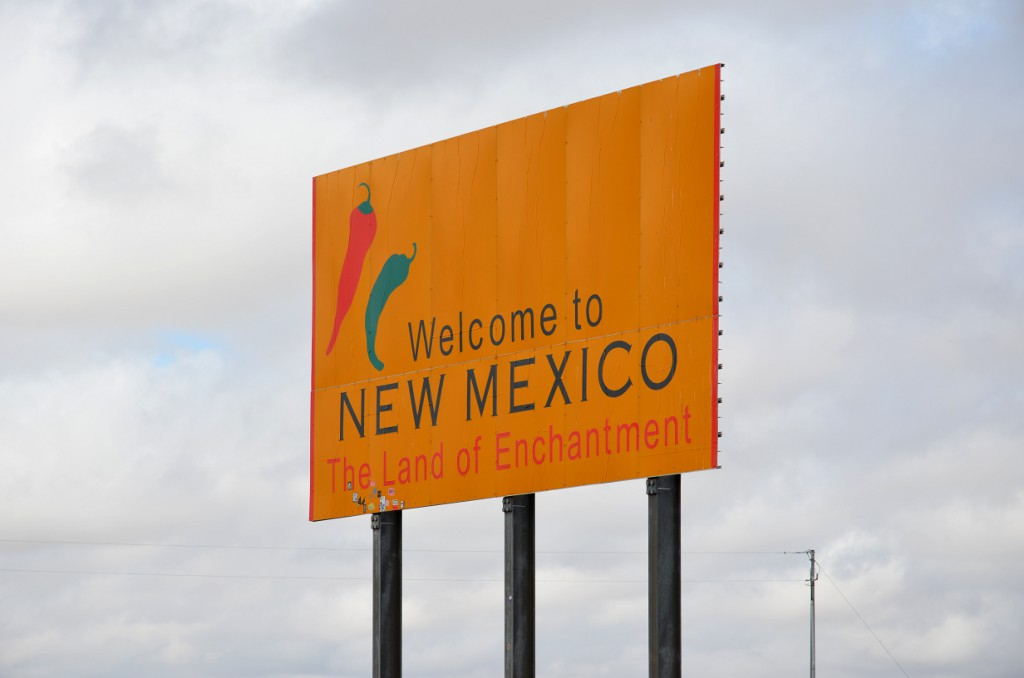 New Mexico State Sign