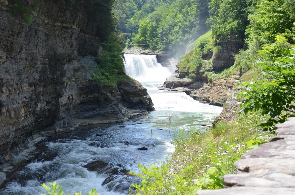 Letchworth State Park - Lower Falls from Bridge