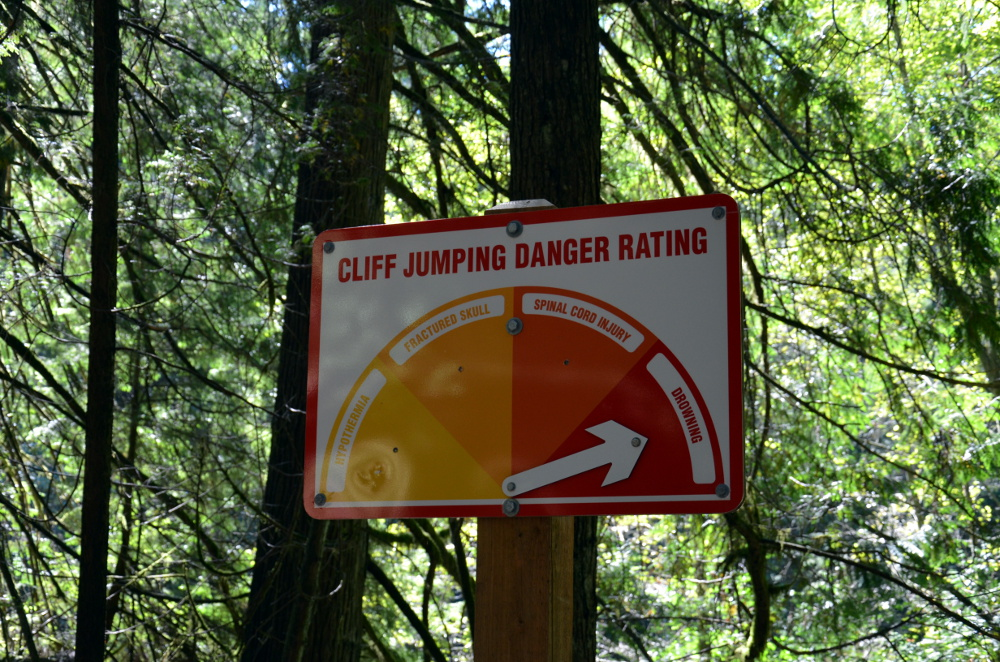 Lynn Canyon Danger Sign