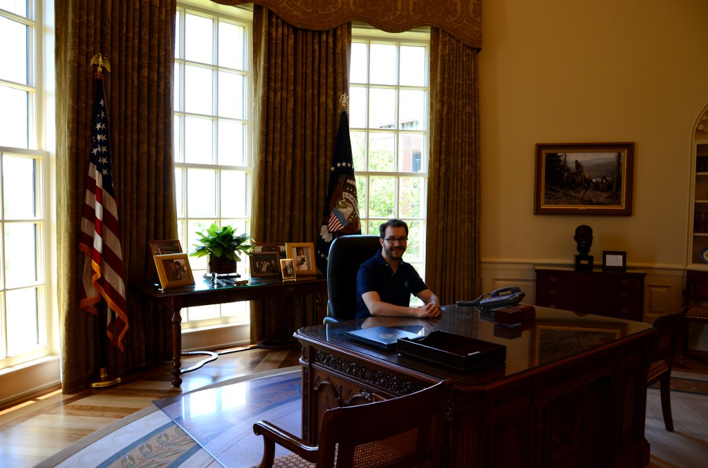 Simon im Oval Office