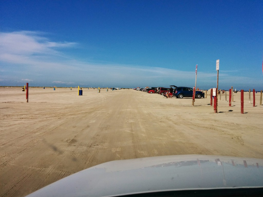 Driving East Beach Galveston