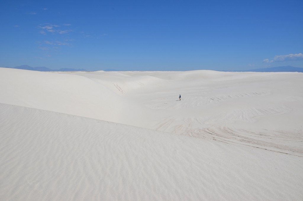 Hiking White Sands