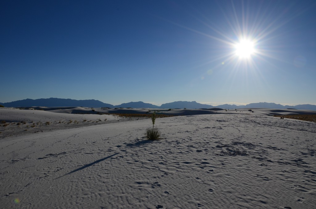 White Sands NM - Sonne
