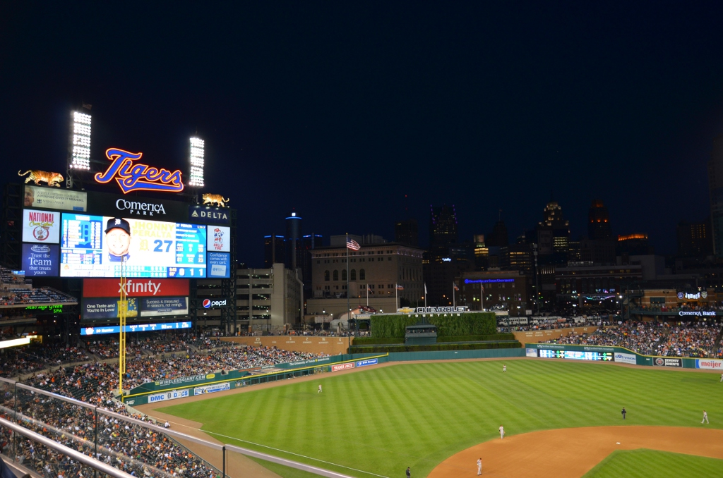 Comerica Park at Night