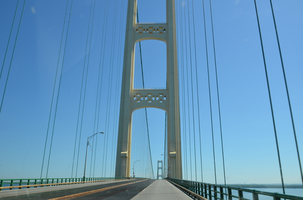 Driving Mackinack Bridge