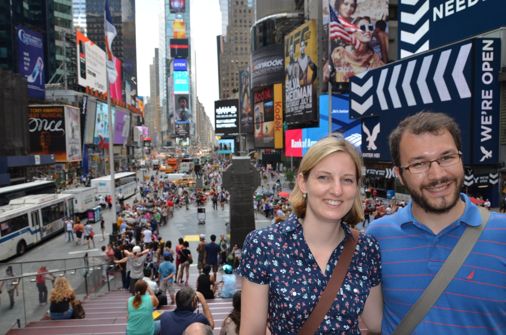 Kathrin & Simon am Times Square