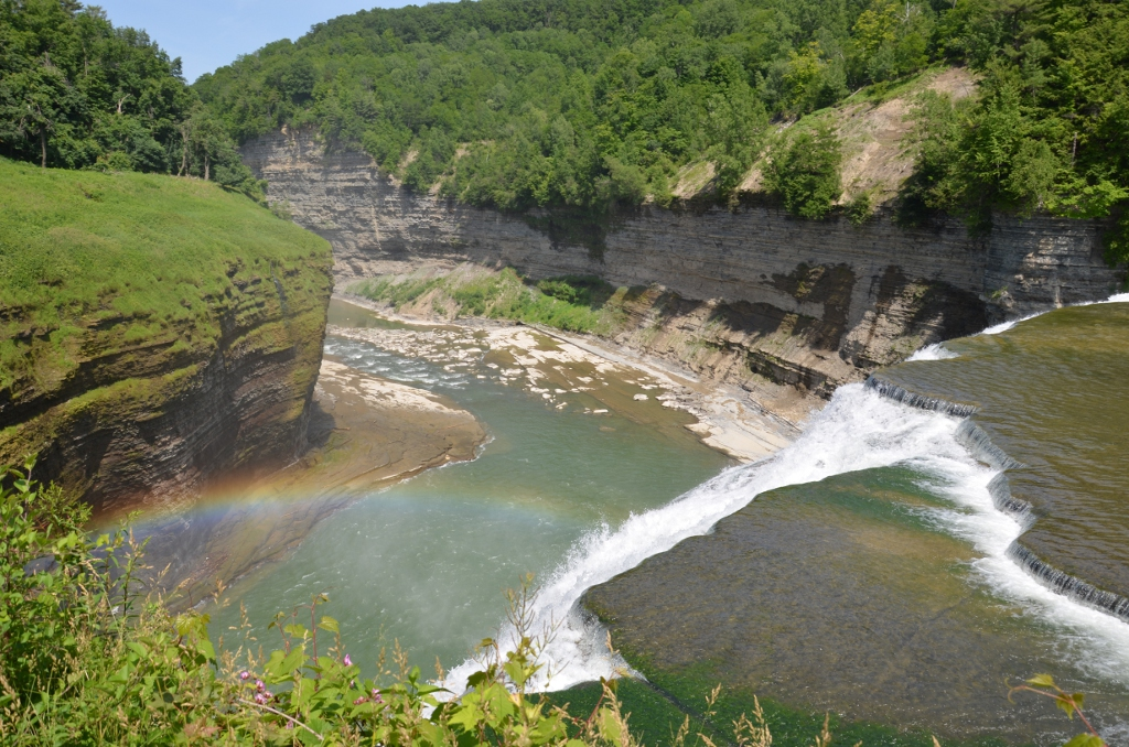 Letchworth State Park - Middle Falls  Rainbow