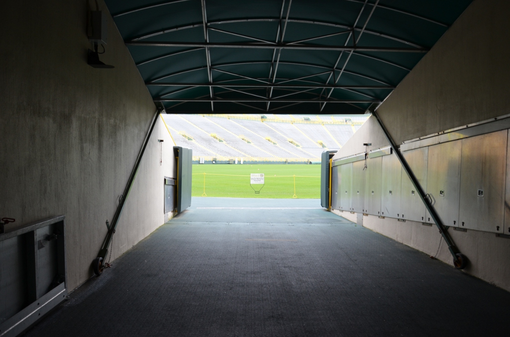 Spielertunnel Lambeau Field