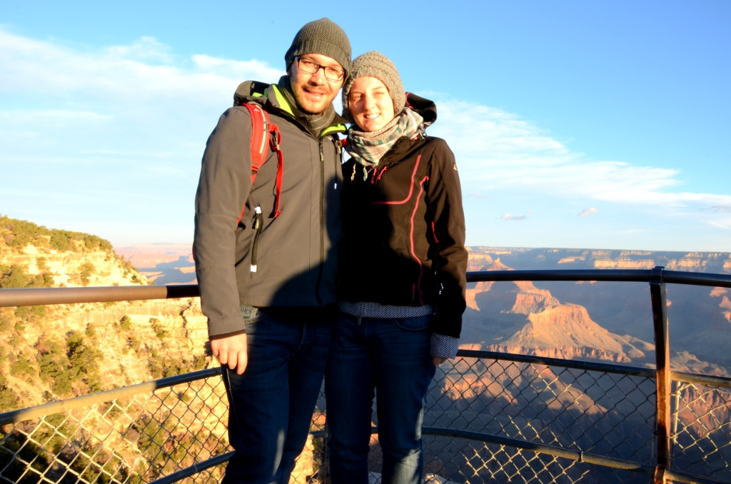 Kathrin und Simon am Grand Canyon