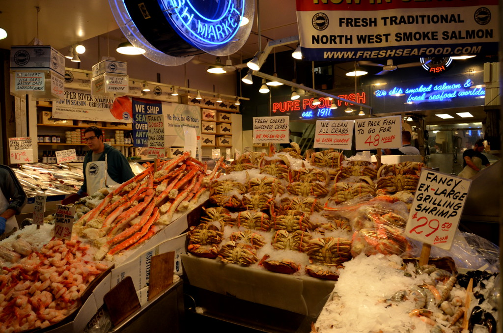 Seattle Pike Place Market Crabs