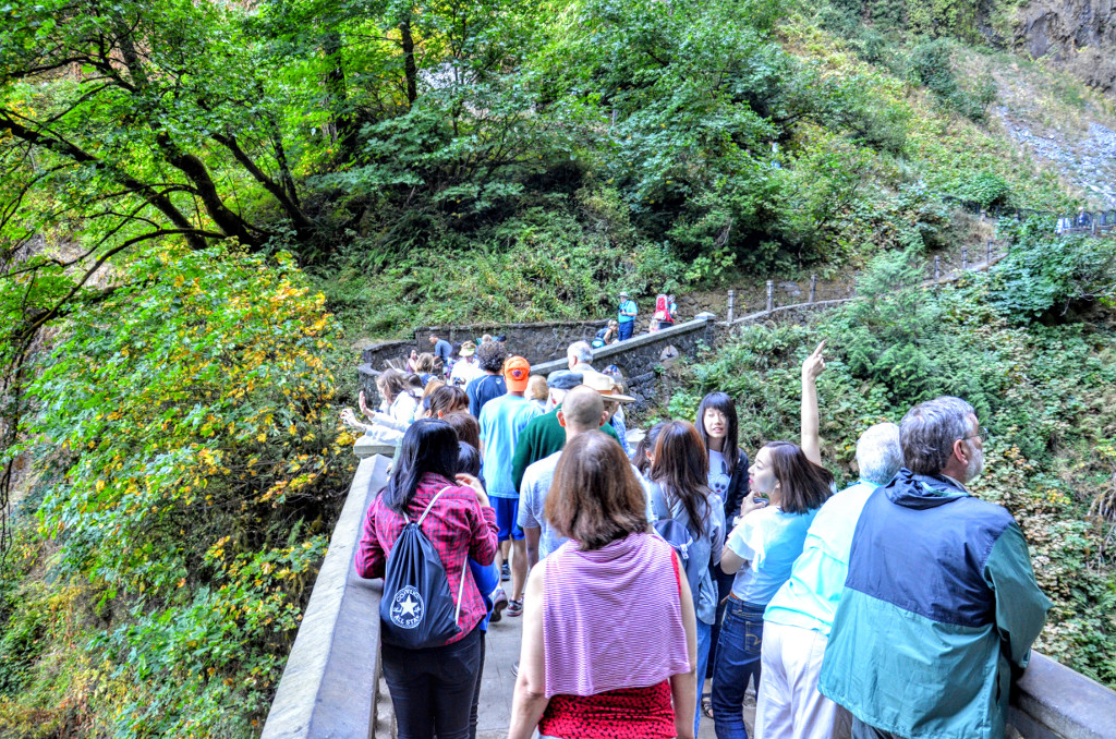 Multnomah Falls Crowds