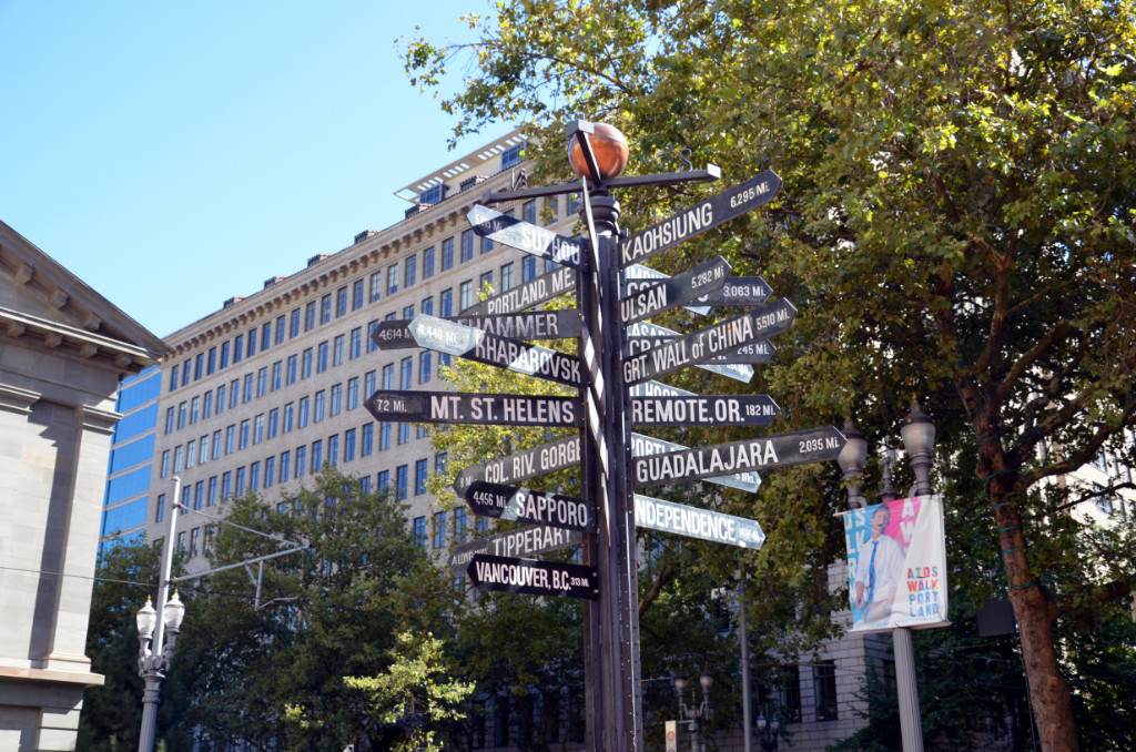 Portland - Pioneer Square - Signs
