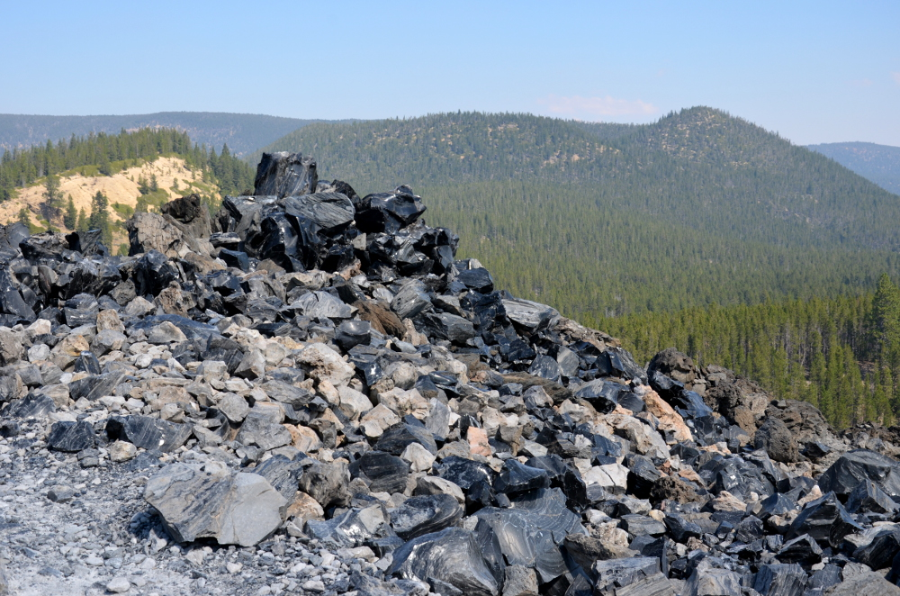 Obsidian Rocks - Newberry Volcanic Moument